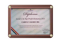 Diploma Locul 2 in Top Profit Romania 2012